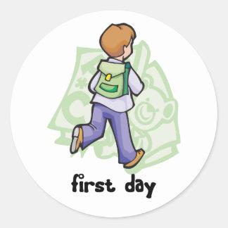 First Day Of School Classic Round Sticker