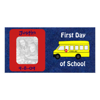 First Day of School Custom Keepsake Personalized Photo Card