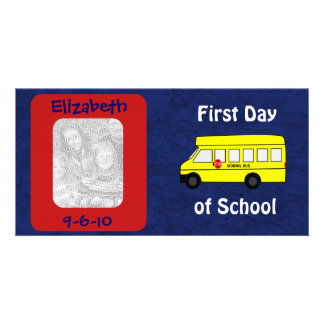 First Day of School Custom Photo and Date Photo Card