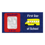 """First Day of School"" Custom Photo Card"