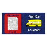 """First Day of School"" Custom Photo Card"