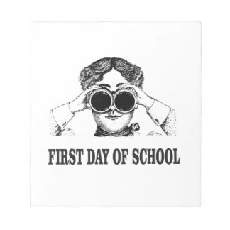 first day of school notepad