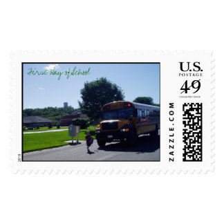 First Day of School  Postage Stamp