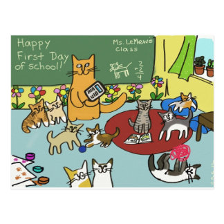 First Day of School Postcard