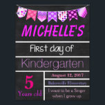 "First Day of School Sign, Chalkboard Sign, Poster<br><div class=""desc"">Great way to commemorate your child&#39;s first day of school</div>"