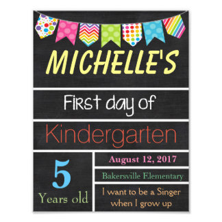 First Day of School Sign, Chalkboard Sign, School Photo Print