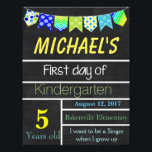 "First Day of School Sign, Chalkboard Sign, Signs<br><div class=""desc"">Great way to commemorate your child&#39;s first day of school</div>"