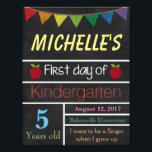 "First Day of School Sign, School Chalkboard Sign<br><div class=""desc"">Great way to commemorate your child&#39;s first day of school</div>"