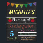 """First Day of School Sign, School Chalkboard Sign<br><div class=""""desc"""">Great way to commemorate your child&#39;s first day of school</div>"""