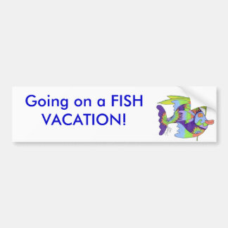 First Day of Vacation Bumper Sticker