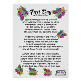 First Day Poem (16x12) Poster