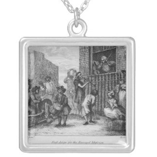 First Design for The Enraged Musician, 1799 Silver Plated Necklace