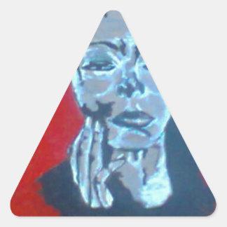 First designs triangle sticker