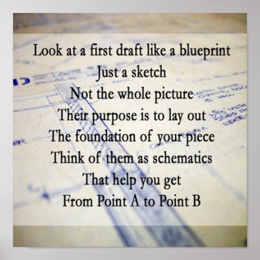 First Draft Blueprint Poster