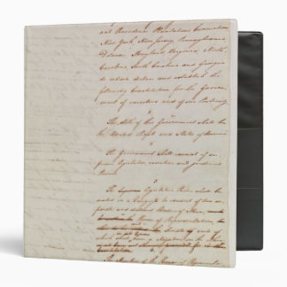 First draft of the Constitution of the U.S. 3 Ring Binder