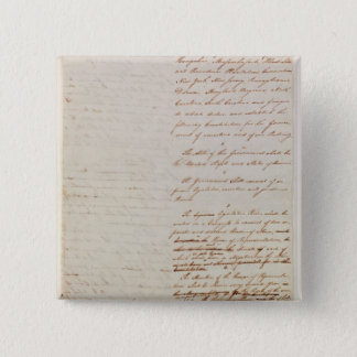 First draft of the Constitution of the U.S. Pinback Button