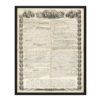 First Draft of the Declaration of Independence Canvas Print