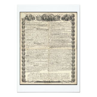 First Draft of the Declaration of Independence Card