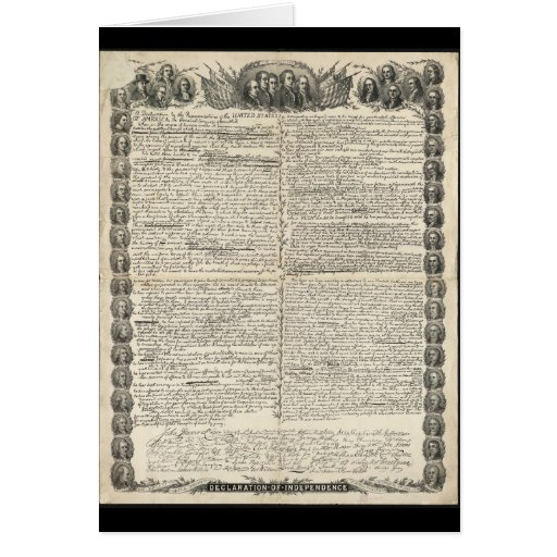 text commentary of the declaration of The declaration of independence expresses that man's rights come directly from god himself and are inherent in his humanity.