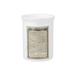 First Draft of the Declaration of Independence Drink Pitchers