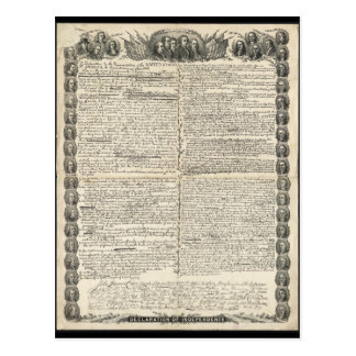 First Draft of the Declaration of Independence Postcard