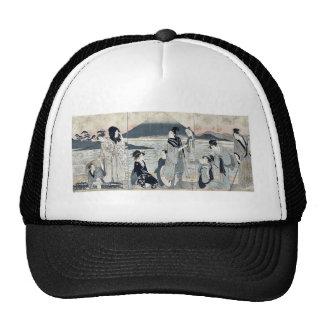 First dream by Kitagawa,Utamaro Hats