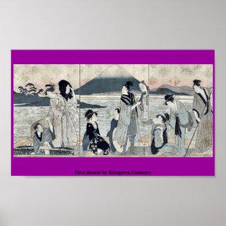 First dream by Kitagawa,Utamaro Poster