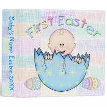 "First Easter Baby Boy 2"" Binder Memory Book"
