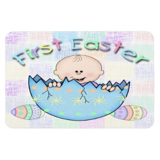 "First Easter Baby Boy Flex Magnets 6""x4"""