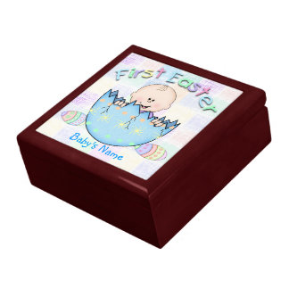 First Easter Baby Boy Gift Box/Trinket Box