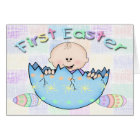 First Easter Baby Boy Greeting Card