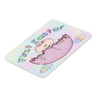 """First Easter Baby Girl Flex Magnets 4""""x3"""""""