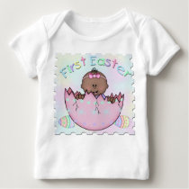 First Easter Ethnic Baby Girl Infant Long Sleeve T Baby T-Shirt
