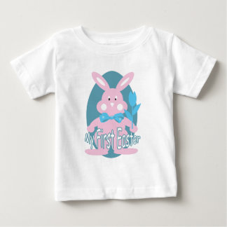 First Easter Pink Bunny Baby Girl T-shirt