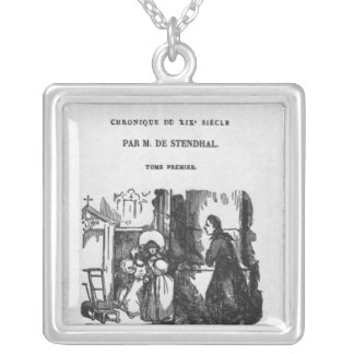 First Edition of 'The Red and the Black' Silver Plated Necklace