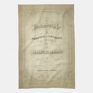 First Edition Vintage Sheet Music Cover Kitchen Towels