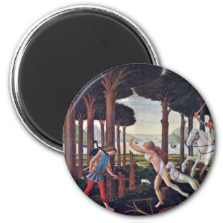"""First Episode """" By Botticelli Sandro 2 Inch Round Magnet"""