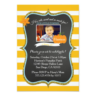 First Fall Little Pumpkin Birthday Invitation