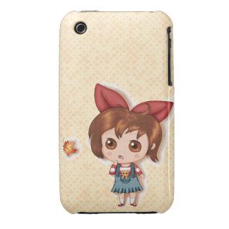 First Fallen Leaf Of Autumn Chibi Case-Mate iPhone 3 Case