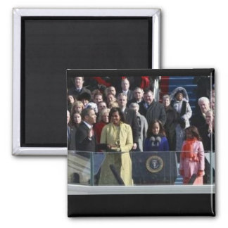 First Family 2009 Inauguration 2 Inch Square Magnet