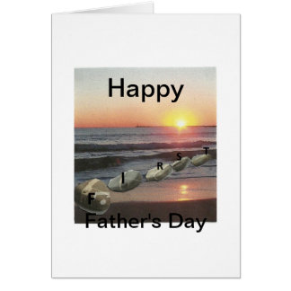 First Father's Day Greeting Card