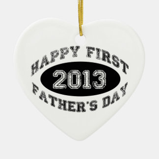First Father's Day Ceramic Ornament