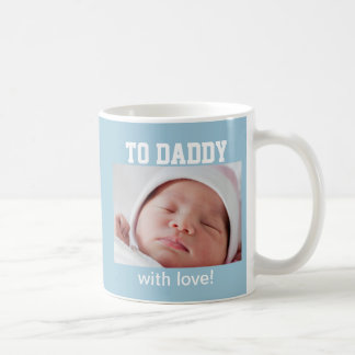 First Father's Day - Custom Photo/Year Classic White Coffee Mug
