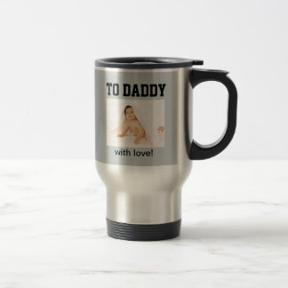 First Father's Day - Custom Photo/Year Travel Mug
