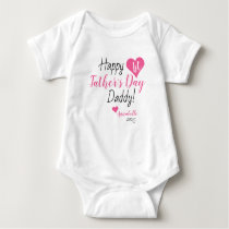 First Father's Day Gift Pink Baby Girl Daughter Baby Bodysuit