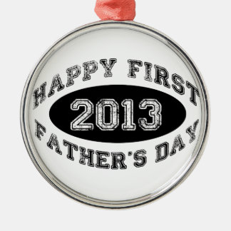 First Father's Day Metal Ornament