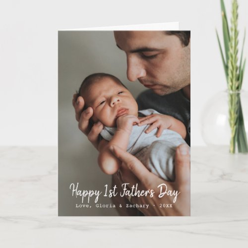 First Fathers Day Photo Greeting Card
