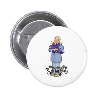 First Father's Day Pinback Button