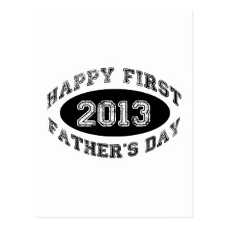 First Father's Day Postcard