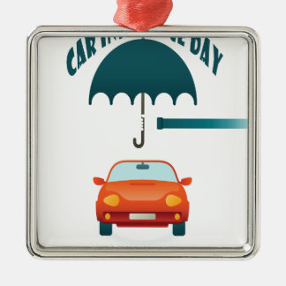 First February - Car Insurance Day Metal Ornament